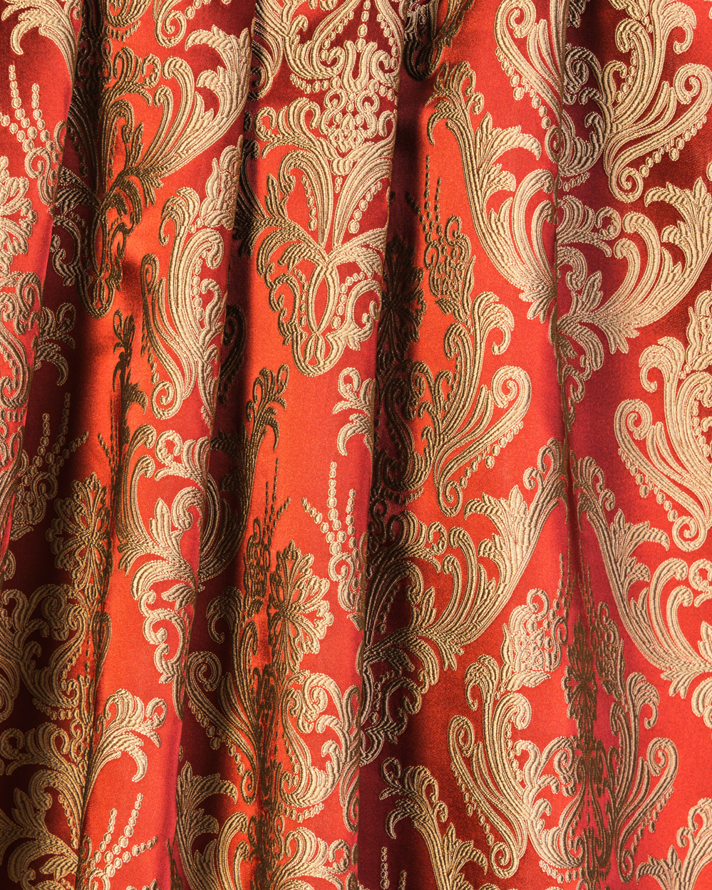 ... : Home Collections Royal Collection Brocade Curtain fabric red, gold
